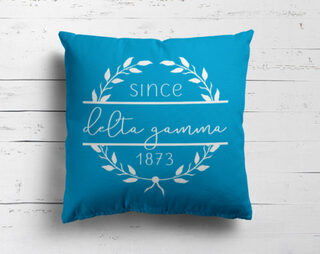 Delta Gamma Since Established Pillow