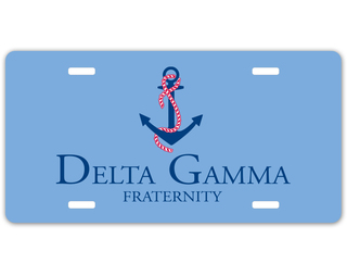 Delta Gamma Sorority Logo License Cover