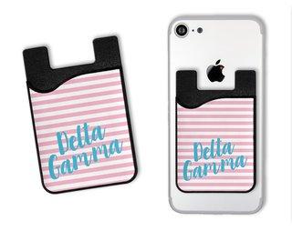 Delta Gamma Sorority Stripes Caddy Phone Wallet