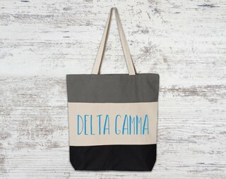 Delta Gamma Tri Color Tote Bag