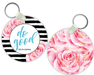 Delta Gamma Watercolor Motto Keychain