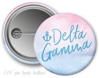 Delta Gamma Watercolor Script Button