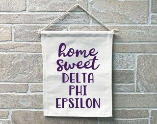 Delta Phi Epsilon Home Sweet Home Banner
