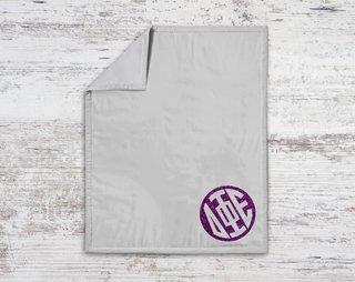 Delta Phi Epsilon Monogram Blanket