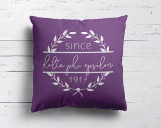 Delta Phi Epsilon Since Established Pillow