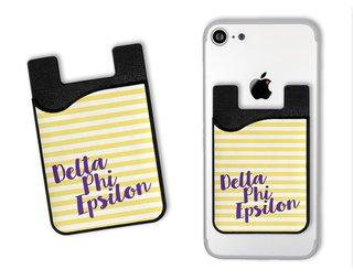 Delta Phi Epsilon Sorority Stripes Caddy Phone Wallet