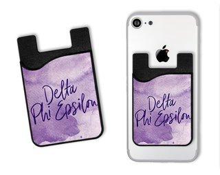 Delta Phi Epsilon Watercolor Caddy Phone Wallet