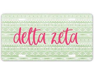 Delta Zeta Aztec License Plate