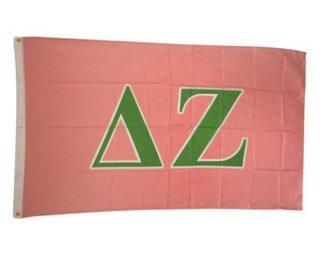 Delta Zeta Big Greek Letter Flag