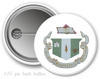 Delta Zeta Color Crest - Shield Button