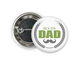 Delta Zeta Dadstache Button