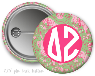 Delta Zeta Floral Button
