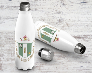Delta Zeta Crest - Shield Stainless Steel Water Bottle