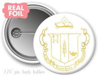 Delta Zeta Foil Crest - Shield Button