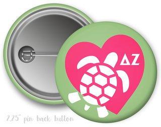 Delta Zeta Heart Mascot Button