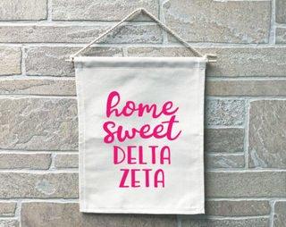 Delta Zeta Home Sweet Home Banner