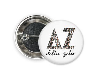 Delta Zeta Leopard Button
