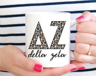 Delta Zeta Leopard Mug