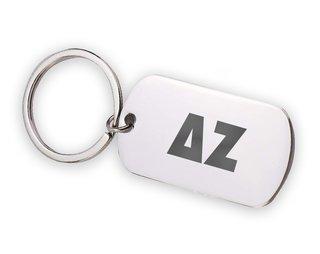 Delta Zeta Letters Stainless Keychain