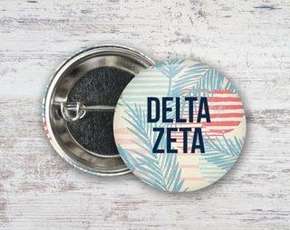 Delta Zeta Paradise Found Button