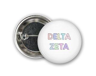 Delta Zeta Pastel Letter Button