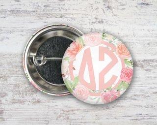 Delta Zeta Pretty In Pink Button