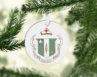 Delta Zeta Round Acrylic Crest - Shield Ornament