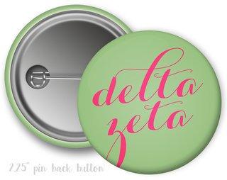 Delta Zeta Script Button