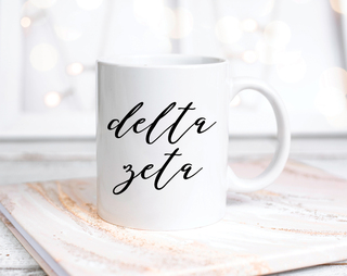 Delta Zeta Script Mug