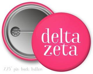 Delta Zeta Simple Text Button