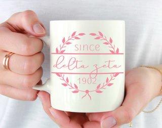 Delta Zeta Since Established Coffee Mug