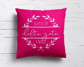 Delta Zeta Since Established Pillow