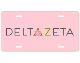 Delta Zeta Sorority Logo License Cover