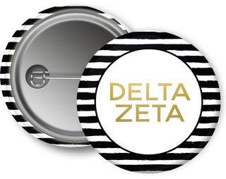 Delta Zeta Striped Button