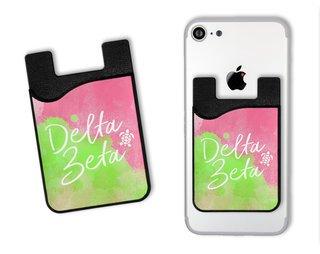 Delta Zeta Watercolor Caddy Phone Wallet