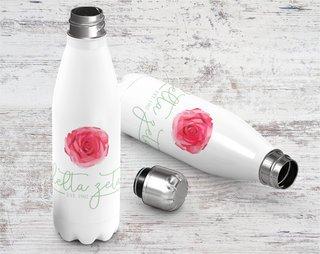 Delta Zeta Established Stainless Steel Water Bottle