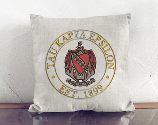 Fraternity Crest Linen Pillow