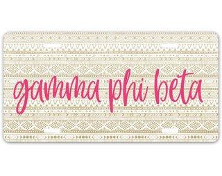 Gamma Phi Beta Aztec License Plate