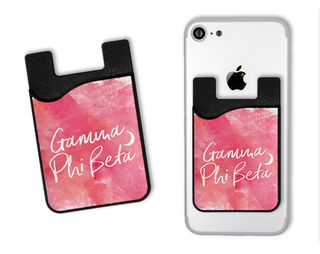 Gamma Phi Beta Watercolor Caddy Phone Wallet