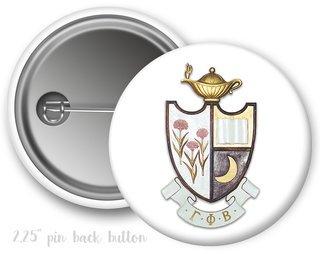 Gamma Phi Beta Color Crest - Shield Button