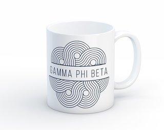 Gamma Phi Beta Geo Scroll Mug