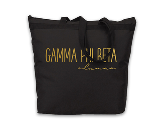 Gamma Phi Beta Gold Foil Alumna Tote