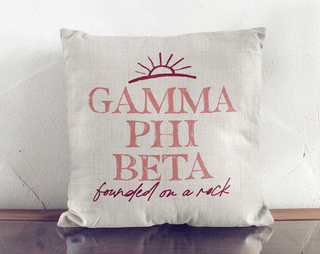 Gamma Phi Beta Linen Sun Pillow