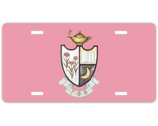 Gamma Phi Beta Crest - Shield License Plate