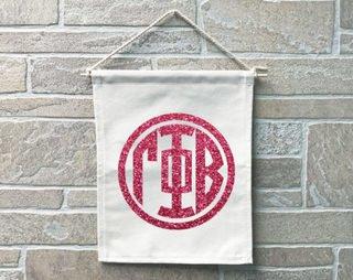 Gamma Phi Beta Monogram Banner