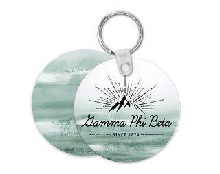 Gamma Phi Beta Mountain Key Chain