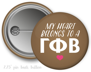 Gamma Phi Beta My Heart Belongs to a Button