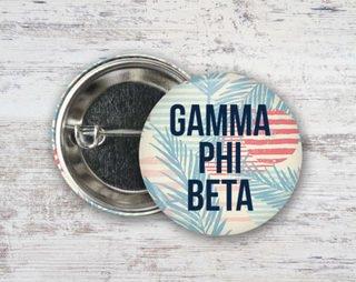 Gamma Phi Beta Paradise Found Button