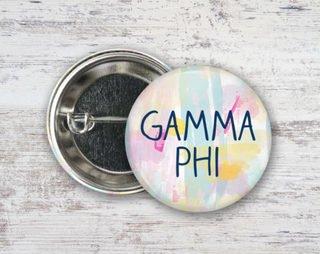 Gamma Phi Beta Pastel Strokes Button