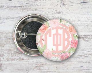 Gamma Phi Beta Pretty In Pink Button